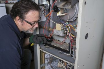 Furnace Repair Man working